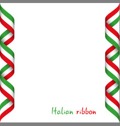 colored ribbon with the italian tricolor vector image vector image