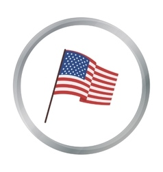 Flag of the United States icon in cartoon style vector image vector image