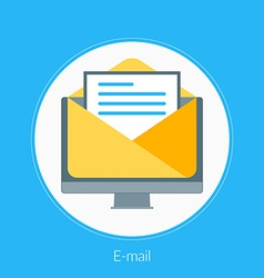 Flat design concept for email for web banne vector