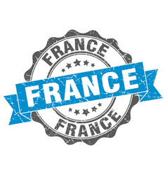 France round ribbon seal vector