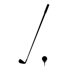 golf icon on white background golf icon simple vector image vector image