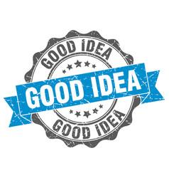 Good idea stamp sign seal vector