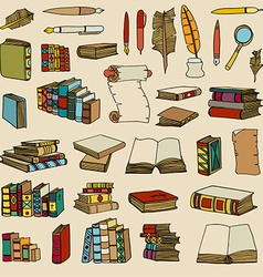 Hand Drawn of Books vector image