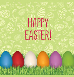 Happy easter floral greeting card easter holiday vector