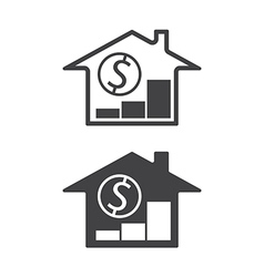 home price up vector image vector image
