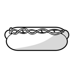 Hot dog icon image vector