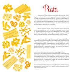 Poster of pasta for italian cuisine vector