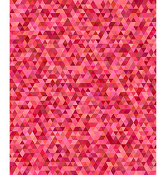 Red regular triangle mosaic background design vector image vector image