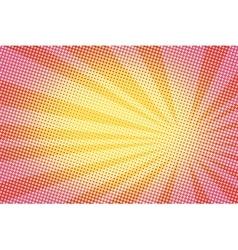 Retro comic yellow background raster gradient vector