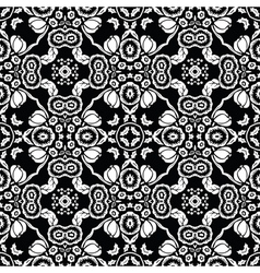 retro floral tile vector image vector image