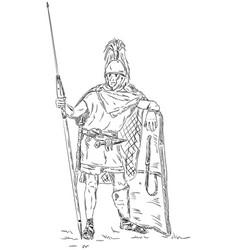 roman soldier legionnaire vector image vector image
