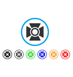 Searchlight rounded icon vector
