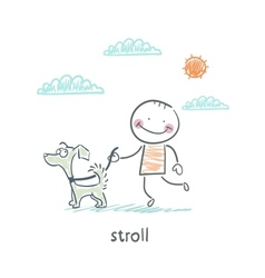 stroll vector image vector image