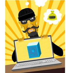 The modern thief vector image