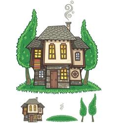 Traditional bulgarian house vector