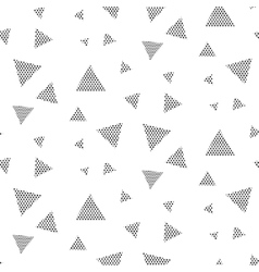 Triangle dotted geometric pattern vector image
