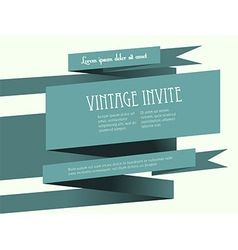 Vintage banner invite with text vector