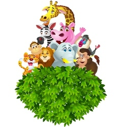 Wils animal cartoon vector image vector image