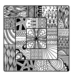 Zentangle for coloring book doodle vector image vector image