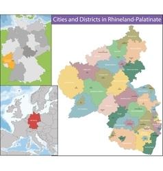 Map of rhineland-palatinate vector