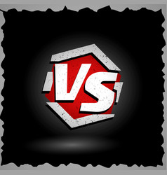 Versus sign vs letters competition vector