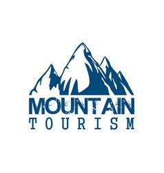 mountain tourism sport icon vector image