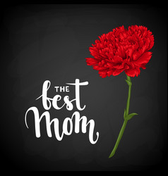 Best mom hand drawn brush pen lettering on vector