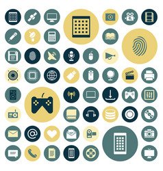 Flat design icons for technology and media vector