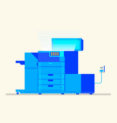 multipurpose device fax copier and scanner vector image