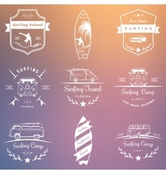 Set of surfing logo vector