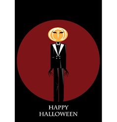 Mister halloween background vector