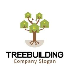 Tree building design vector
