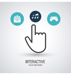 Interactive technology design vector