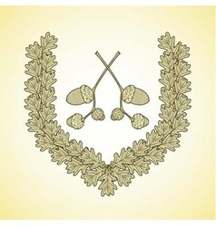 Wreath oak2 vector
