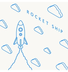 Rocket launch icon eps 10 vector