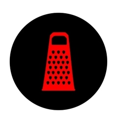 Cheese grater icon vector