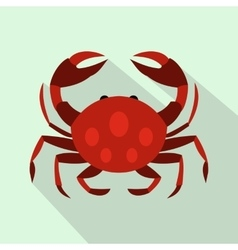 Crab icon flat style vector