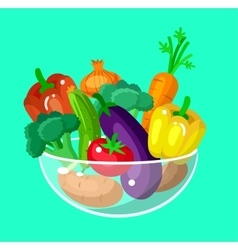 Eco food menu background flat detailed vegetable vector