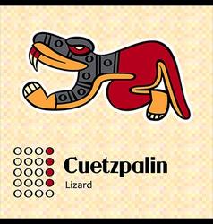 Aztec symbol Cuetzpalin vector image