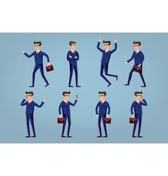 Set of happy office man vector