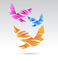 abstract bird icons vector image