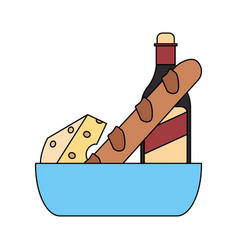 baguette french icon image vector image vector image