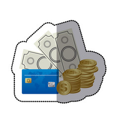 bills coin and cash icon stock icon vector image