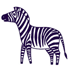 black and white zebra vector image vector image