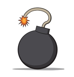 Cartoon bomb vector