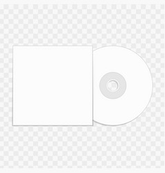 cd mockup template vector image