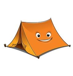 Cheerful cartoon orange tent vector