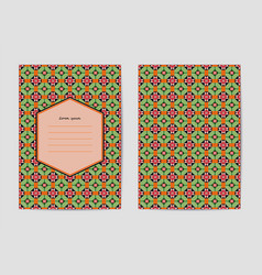 collection of templates with patterns vector image
