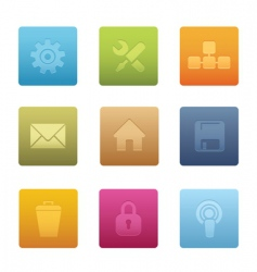 computer icons square vector image vector image