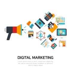 Digital Marketing Flat Design vector image